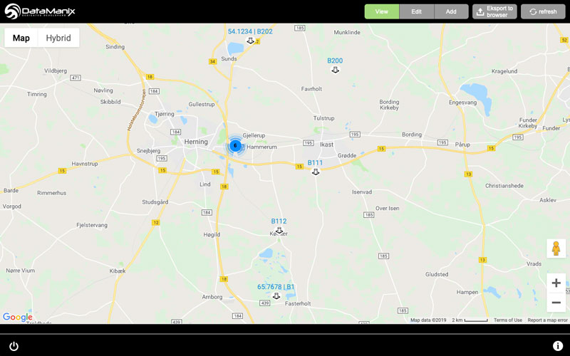 DM FileMaker integration with Google Maps API